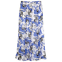 Buy Jacques Vert Abstract Floral Skirt, Blue Online at johnlewis.com