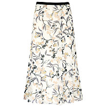 Buy Jacques Vert Summer Floral Skirt, White Online at johnlewis.com