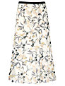 Jacques Vert Summer Floral Skirt, White