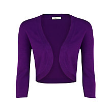 Buy Precis Petite Tripple Trim Shrug, Magenta Online at johnlewis.com