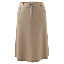 Buy East Jean Style Linen Skirt, Jute Online at johnlewis.com