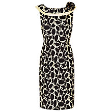 Buy Jacques Vert Halo Print Dress, Black Online at johnlewis.com