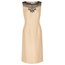 Buy Jacques Vert Embroidered Dress, Light Caramel Online at johnlewis.com