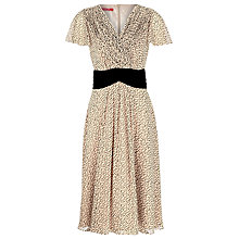 Buy Jacques Vert Ditzy Print Dress, Natural Online at johnlewis.com
