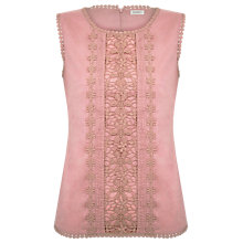 Buy Kaliko Lace Panel Shell Top, Neutral Online at johnlewis.com
