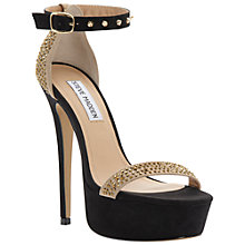 Buy Steve Madden Reality Platform Heels, Black/Gold Online at johnlewis.com