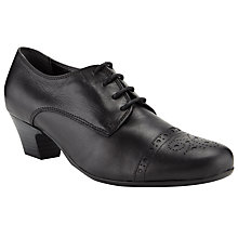 Buy John Lewis Noreen Brogue Shoes, Black Online at johnlewis.com