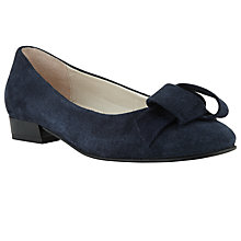 Buy John Lewis Ursula Folded Trim Court Shoes, Navy Online at johnlewis.com