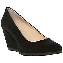 Buy Dune Atreat Wedged Shoes, Black Online at johnlewis.com