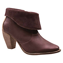 Buy J Shoes Saloon Ankle Boots, Oxblood Red Online at johnlewis.com