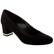 Buy John Lewis Ophelia Court Shoes, Black/Gold Online at johnlewis.com