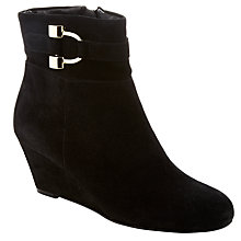 Buy John Lewis Ingrid Wedge Ankle Boots, Black Online at johnlewis.com