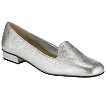 Buy Collection WEEKEND by John Lewis Zelda Slipper Shoes, Silver Online at johnlewis.com