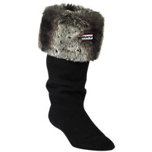 Buy Hunter Furry Cuff Welly Socks, Chinchilla Grey Online at johnlewis.com