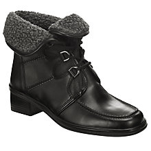 Buy Gabor Rayce Fur Lined Ankle Boots, Black Online at johnlewis.com