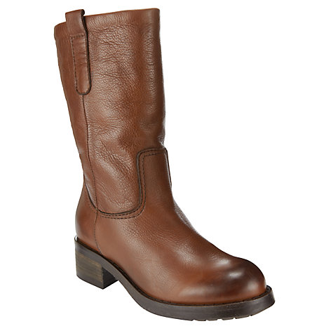 Buy Collection WEEKEND by John Lewis Ginny Shearling Lined Calf Boots, Brown Online at johnlewis.com