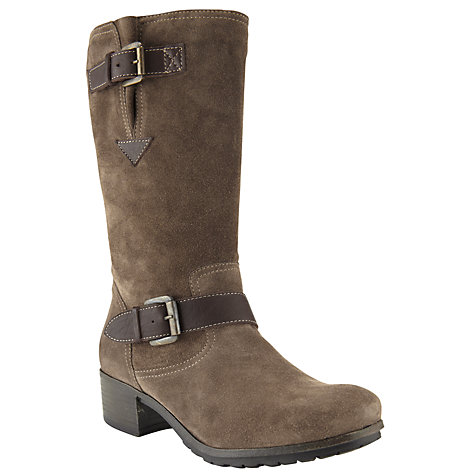 Buy John Lewis Gretal Calf Boots, Taupe Online at johnlewis.com