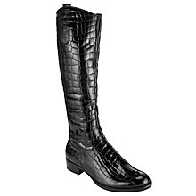 Buy Gabor Woburn Patent Boots, Black Online at johnlewis.com