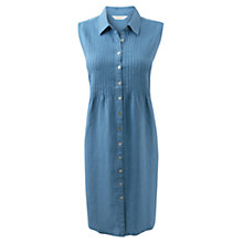 Buy East Pin Tuck Shirt Dress, Soft Shale Online at johnlewis.com