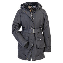 Buy Barbour Girls' Outlaw Hooded Jacket, Navy Online at johnlewis.com