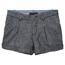 Buy Tommy Hilfiger Girls' Tweed Shorts, Grey Online at johnlewis.com