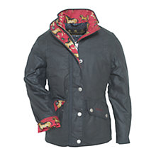 Buy Barbour Girls' Ferndown Waxed Jacket, Navy Online at johnlewis.com