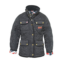 Buy Barbour Girls' Vintage International Coat, Black Online at johnlewis.com