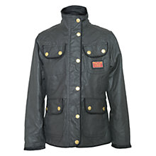 Buy Barbour Girls' Glencoe Wax Coat, Indigo Online at johnlewis.com