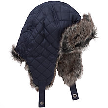 Buy Barbour Margrove Trapper Hat, Navy Online at johnlewis.com