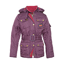 Buy Barbour Girls' Viper International Jacket, Blackberry Online at johnlewis.com