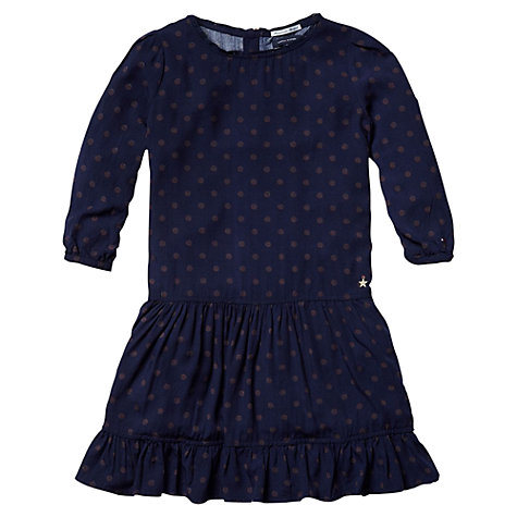 Buy Tommy Hilfiger Girls' Polka Dot Dress, Navy Online at johnlewis.com