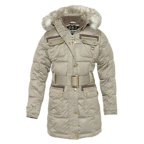 Buy Barbour Girls' Arctic Parka Coat, Grey Online at johnlewis.com