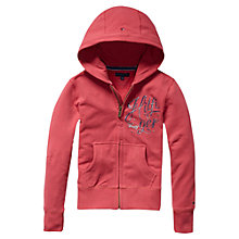 Buy Tommy Hilfiger Girls' Zip Through Hoodie, Pink Online at johnlewis.com