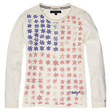 Buy Tommy Hilfiger Girls' Poppy Long Sleeved Top, White Online at johnlewis.com