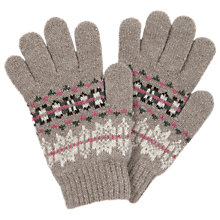 Buy Barbour Fair Isle Gloves, Stone Online at johnlewis.com