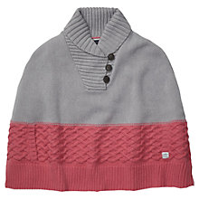 Buy Tommy Hilfiger Girls' Colour Block Poncho, Grey/Pink Online at johnlewis.com