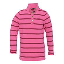 Buy Barbour Oakfield Striped Top, Pink Online at johnlewis.com