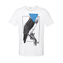 Buy Diesel Owl Print Crew Neck T-Shirt Online at johnlewis.com