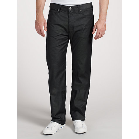 Buy Armani Jeans Tonic Sheen Jeans, Black Online at johnlewis.com