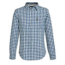 Buy Armani Jeans Gingham Check Long Sleeve Shirt, Blue/White Online at johnlewis.com