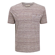 Buy Farah 1920 Berry Stripe Pocket T-Shirt Online at johnlewis.com