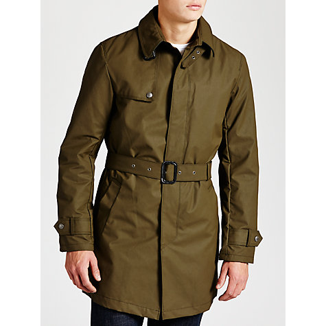 Buy Armani Jeans Trench Coat, Green Online at johnlewis.com
