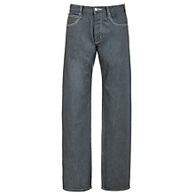 Buy Armani Jeans Regular Fit Mid Wash Jeans, Grey Online at johnlewis.com
