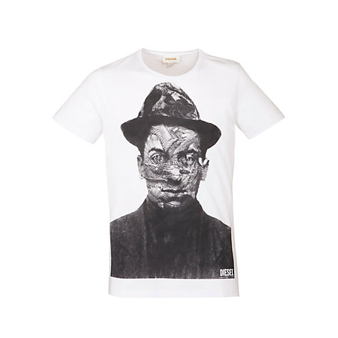 Buy Diesel Man Print Short Sleeve T-Shirt Online at johnlewis.com