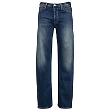 Buy Armani Jeans Button Fly Straight Jeans, Mid Blue Online at johnlewis.com