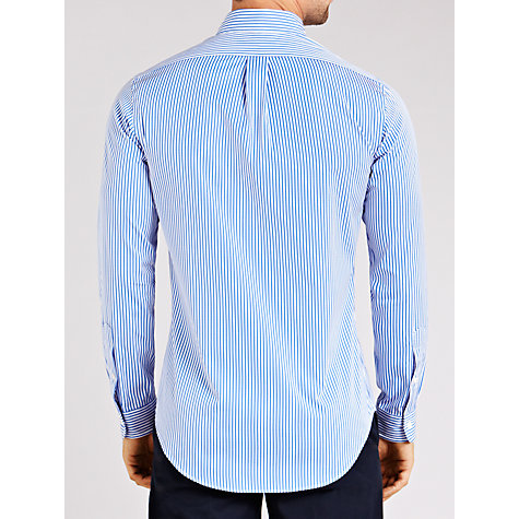 Buy Polo Golf by Ralph Lauren Slim Fit Stripe Shirt, Blue Online at johnlewis.com