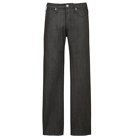 Buy Armani Jeans Regular Fit Button Jeans, Black Online at johnlewis.com