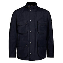 Buy Barbour International Mann Mac, Navy Online at johnlewis.com