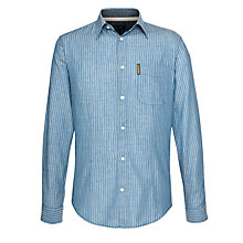 Buy Armani Jeans Pencil Stripe Shirt, Blue Online at johnlewis.com
