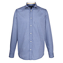 Buy Armani Jeans Micro Print Long Sleeve Shirt, Blue Online at johnlewis.com